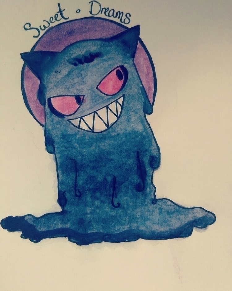 Gengar Watercolor ('16 - watercolor - romanie_gold | ello