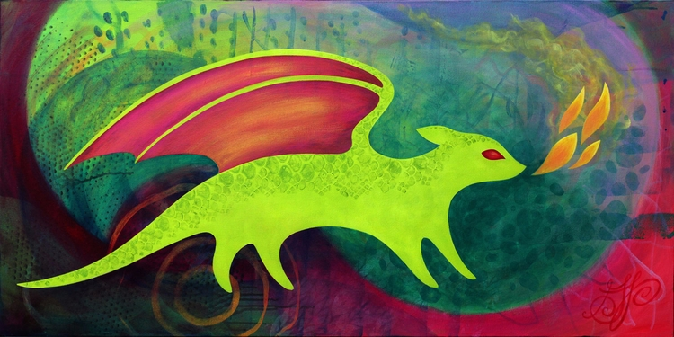 Meadow Dragon, 24x48 - lirelyn | ello