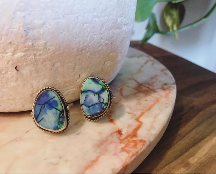 Galaxy Opal dark patina 🖤:blue - mysticvalleyjewelry   ello