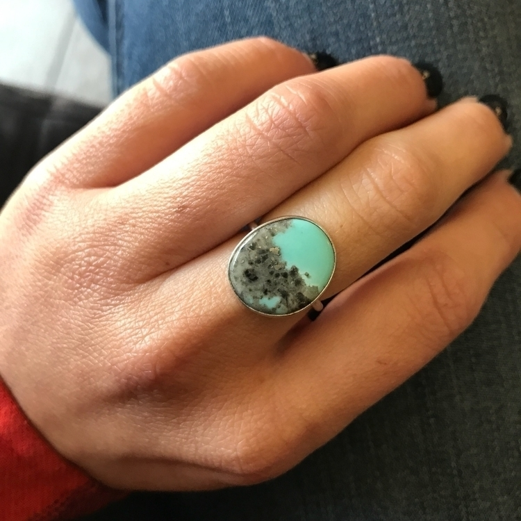 Blue Moon Turquoise ring simple - mysticvalleyjewelry | ello