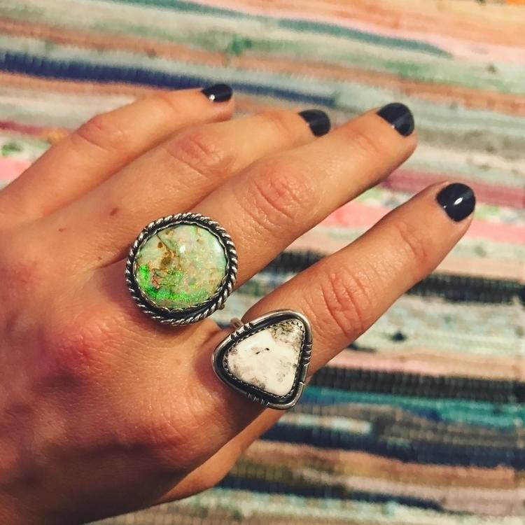 Opal White Buffalo statement pi - mysticvalleyjewelry | ello