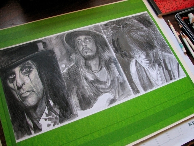 painting - sketch, Hollywood Va - alanbrooksart | ello