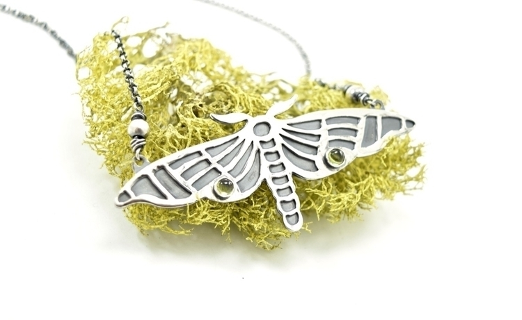 Art Nouveau inspired moth neckl - lithicdesign | ello