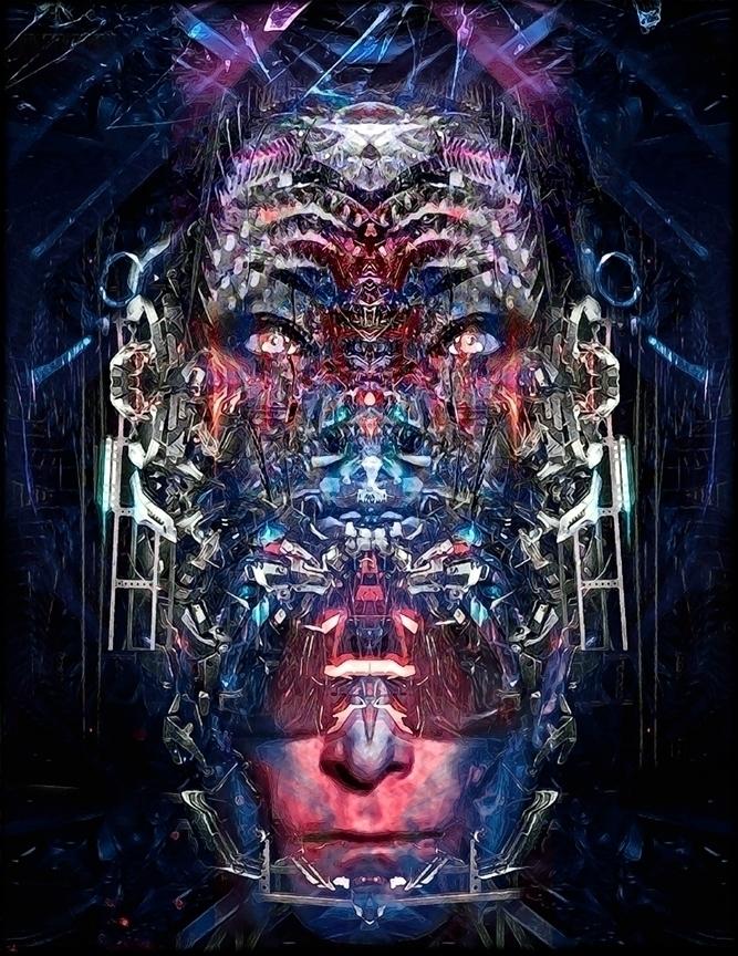 Cyberpunk helmet - Steve Vai pr - alanbrooksart | ello