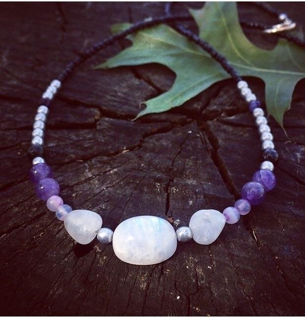 delight moonstone, amethyst hem - lotus_and_light_designs | ello