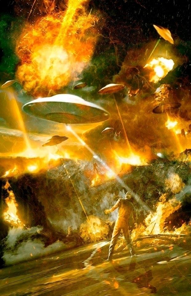 Earth Flying Saucers - retro m - alanbrooksart | ello
