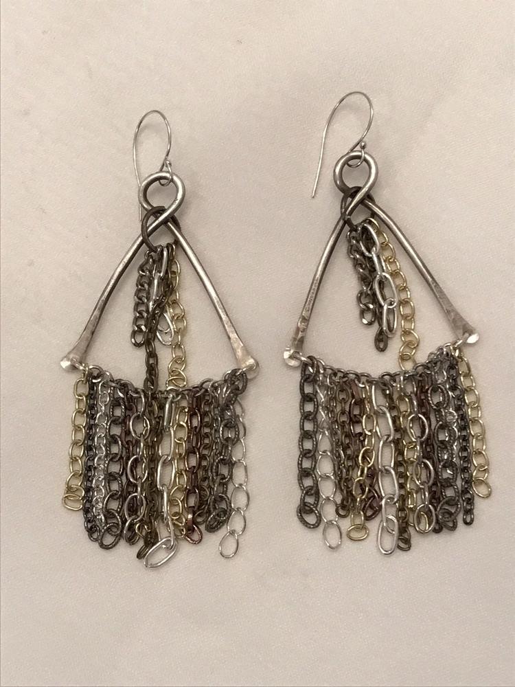 post chain fringe earrings adde - jsjewels | ello