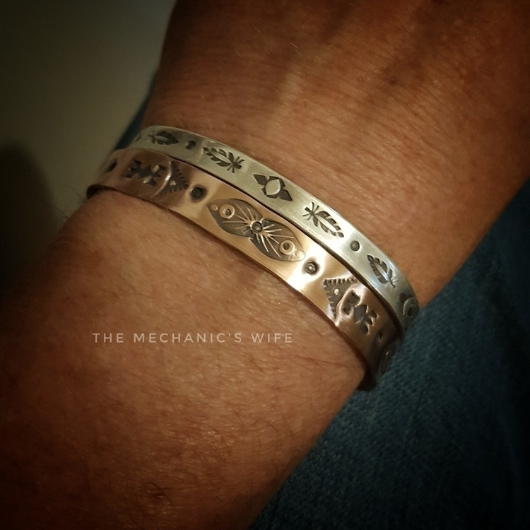 copper stamped cuff. perfectly  - themechanicswife | ello