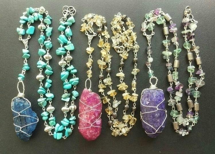 rosary inspired crackle quartz  - tiareina | ello