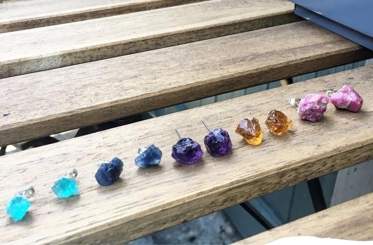 Crystal Studs sapphire ruby! Ch - illuminating_shadows_alchemy | ello