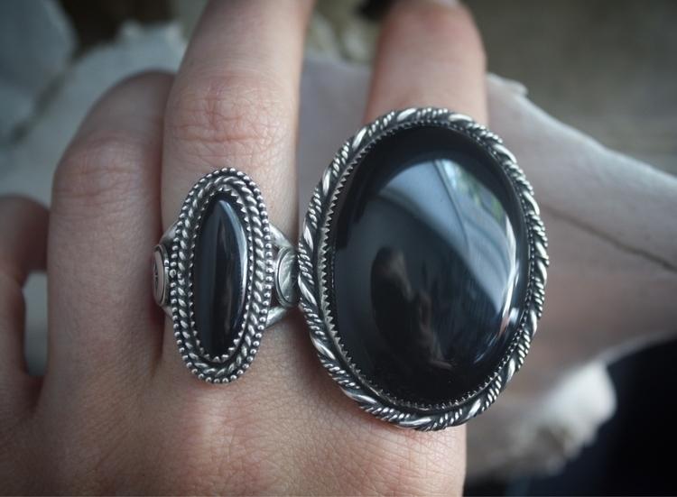 Black Onyx everyday rings 🖤 - macdesigns | ello