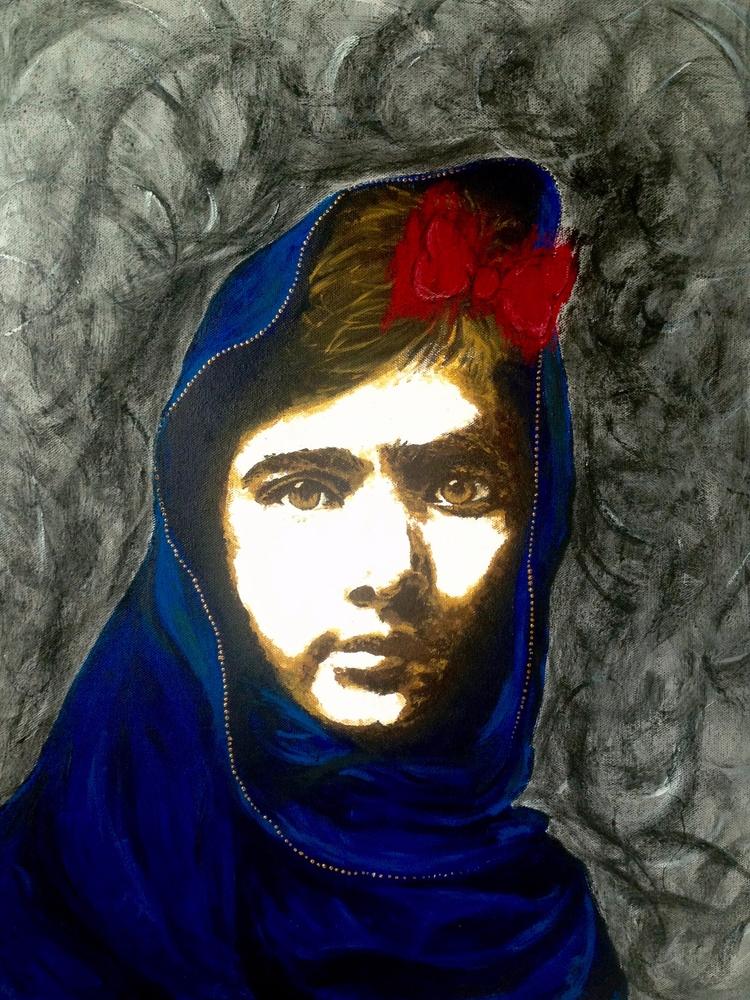 Malala Yousafzai, acrylic charc - boemo | ello