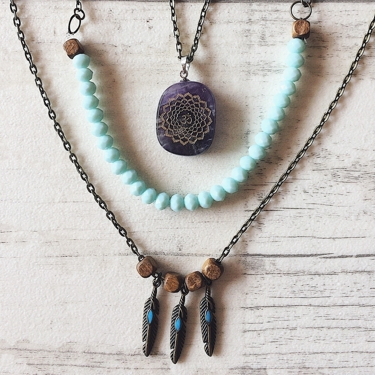 OM Necklace 100% handmade love  - blackfelidae | ello