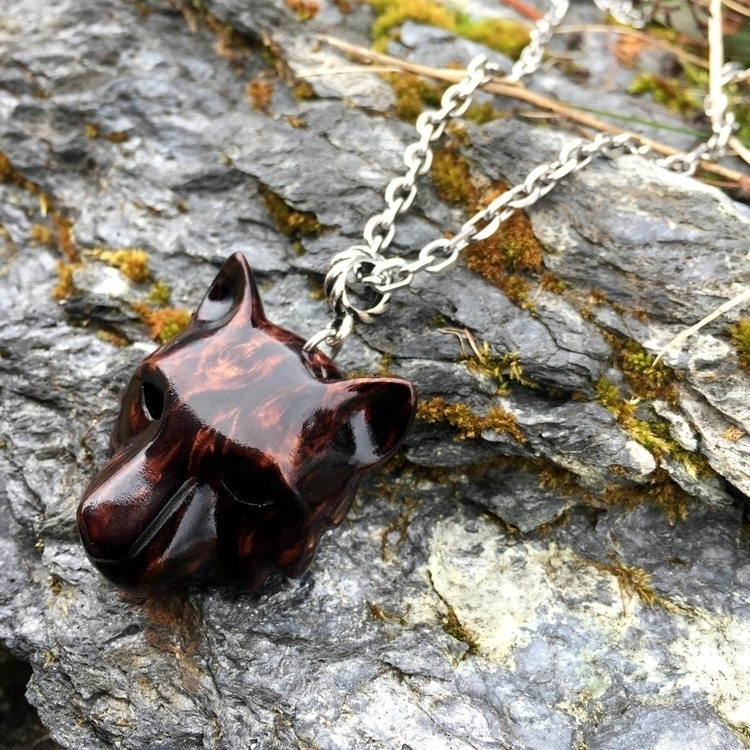 Black tiger pendant. Handmade b - jonasolsenwoodcraft | ello