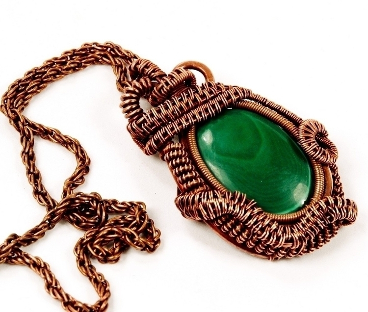 Malachite Copper statement neck - owlsnestdesignstudio | ello