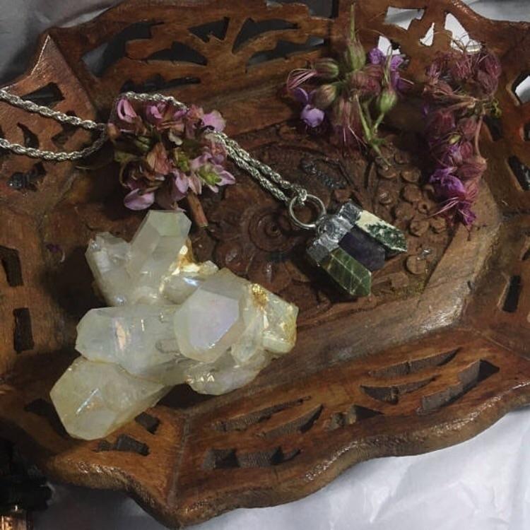 Handmade Tree Jasper, Amethyst  - kristalcave   ello