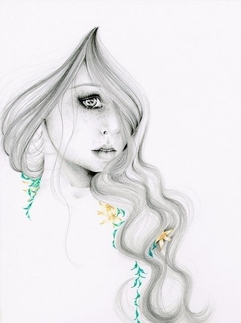 Beauty original artwork - fineart - abitofwhimsy | ello