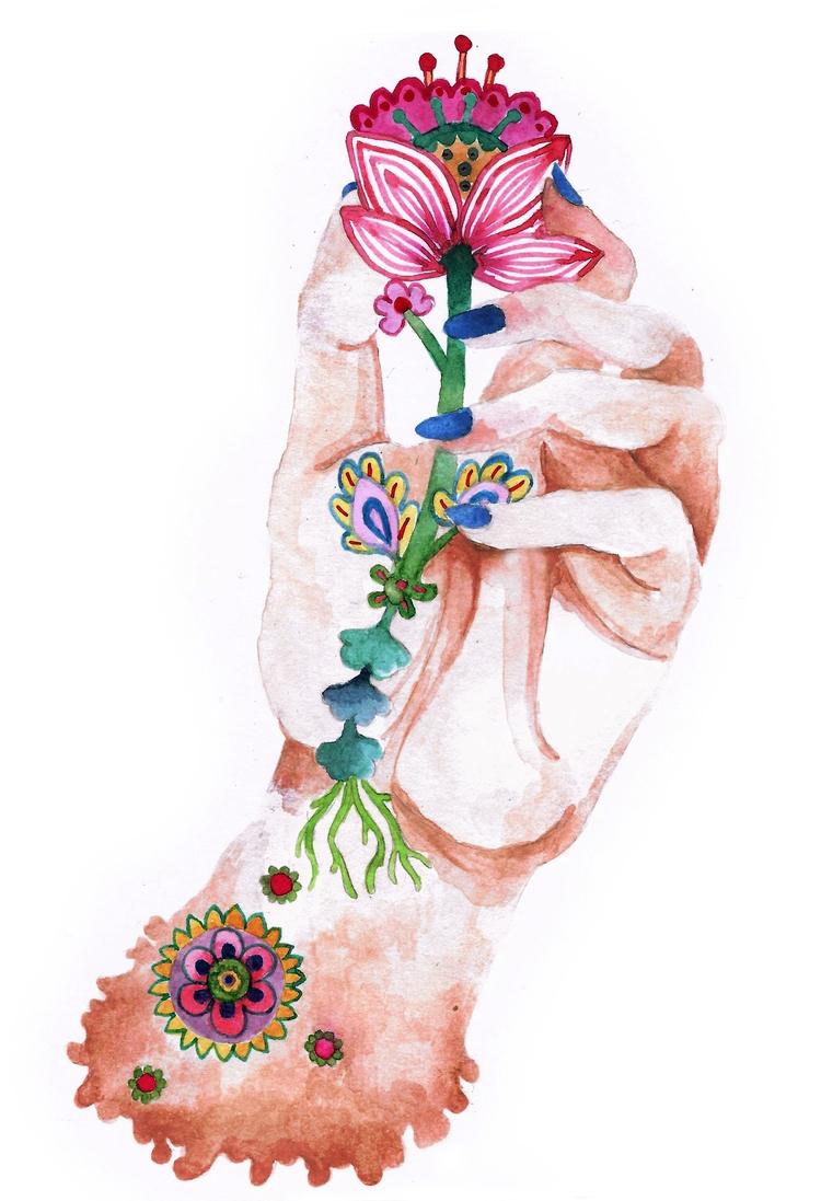 illustration hand series - art, hands - popia_illustration | ello