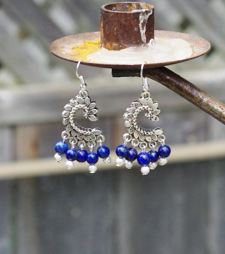 Lapis lazuli chandelier earring - audacitywear | ello