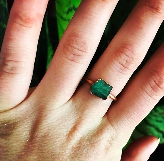 Rough emerald gemstone electrof - jtmcreations | ello