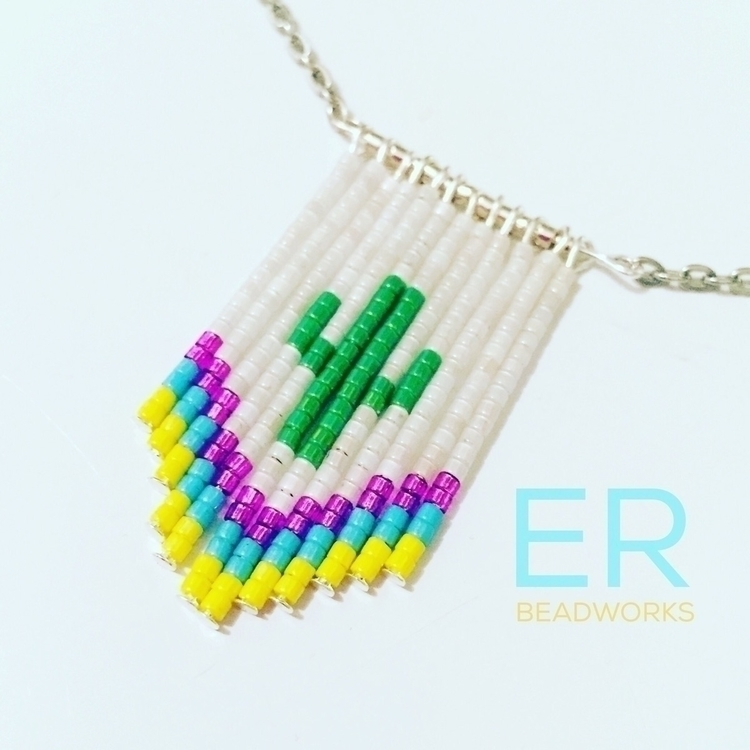 fun color - Cactus, Dangle, Necklace - edenrainbeadworks | ello