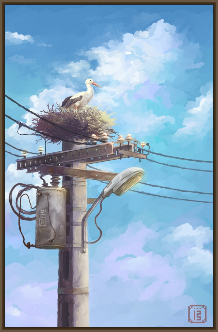 Stork Idyll - guys home country - malthus_wolf | ello