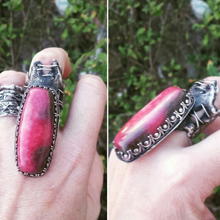 Beautiful big Rhodonite adjusta - silverexclusive | ello
