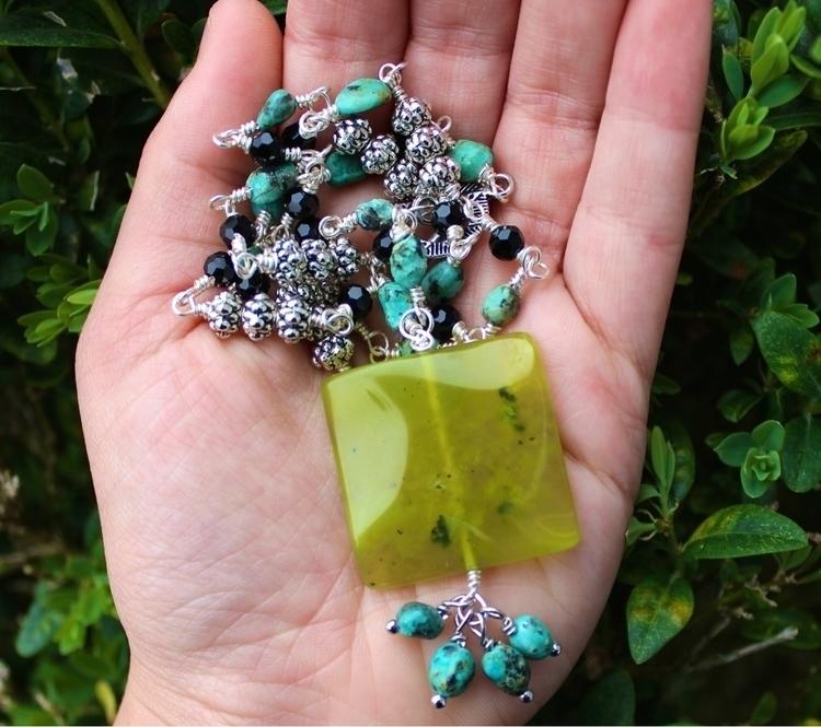 Boho Green Chalcedony African T - sunchildsoul | ello
