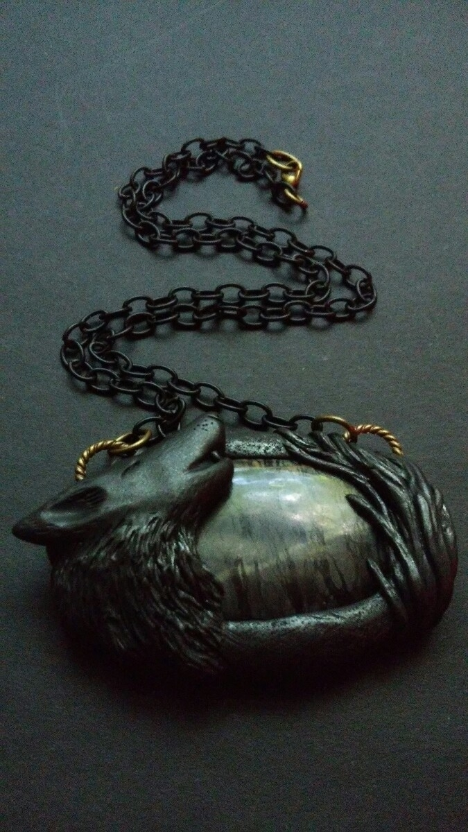listed Etsy shop wolf pendant P - themoonbeams | ello