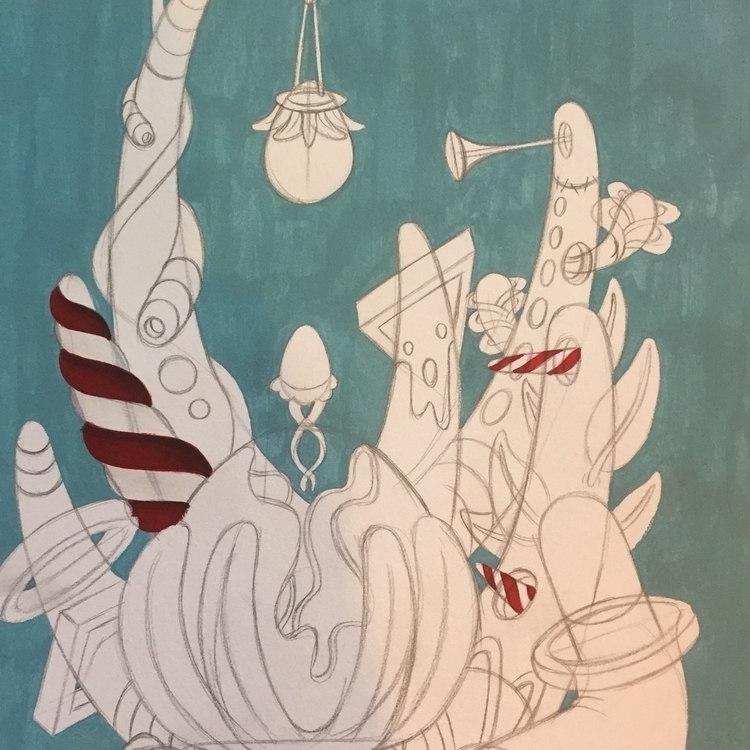 Starting - art, acrylic, surrealism - jimmy-p   ello