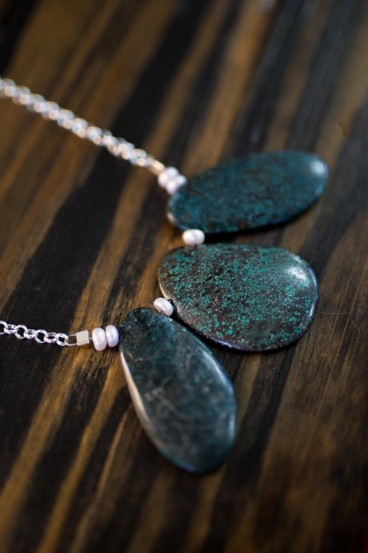 Turquoise + Freshwater Pearls s - northcroftstudio | ello