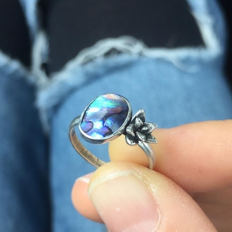 Paua shell succulent! land sea  - saltysouljewelry | ello