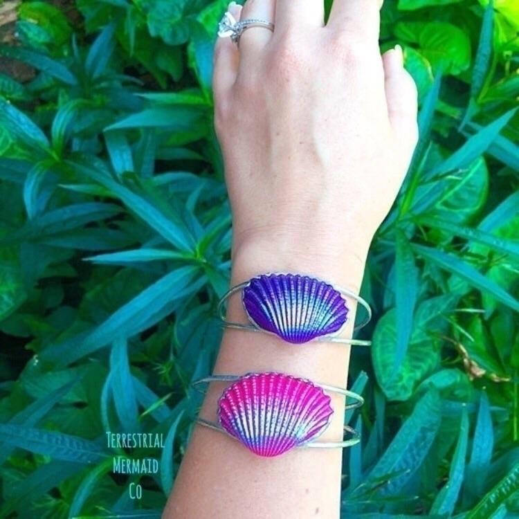 Aura Shell Cuffs shop 15% check - theterrestrialmermaid | ello