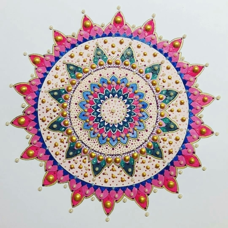 Bright colors pearls.mandala - mandalasharing - toinspireworld-bytriinun   ello
