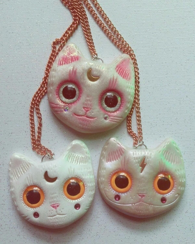 cute cats big eyes shop - cat, kawaii - themoonbeams | ello