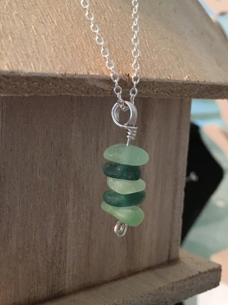 Sterling silver seaglass - foundthings - sealovefuncreations | ello