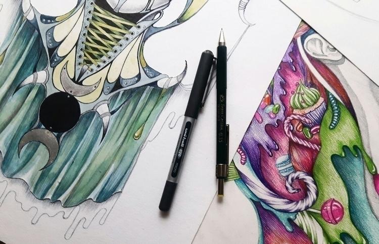 progress - art, drawing, popsurrealism - plaatina | ello