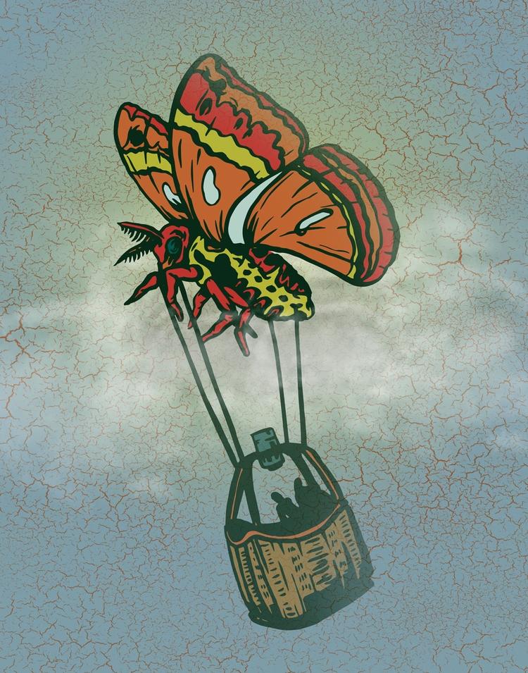 Butterfly Basket Ride - illustration - thomcat23 | ello
