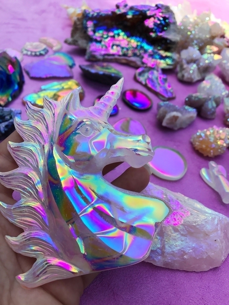 Crystal Unicorn covered - crystal - aurafy   ello