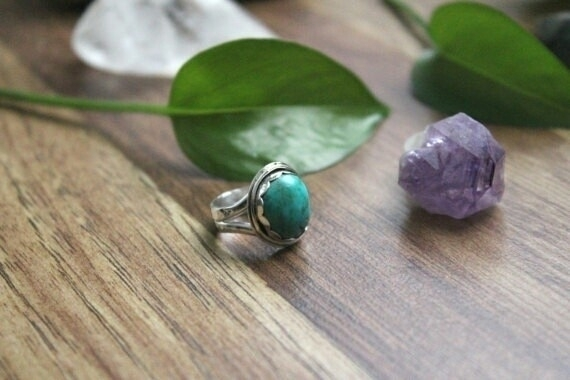 Chunky turquoise ring shop, siz - lunarmountain | ello