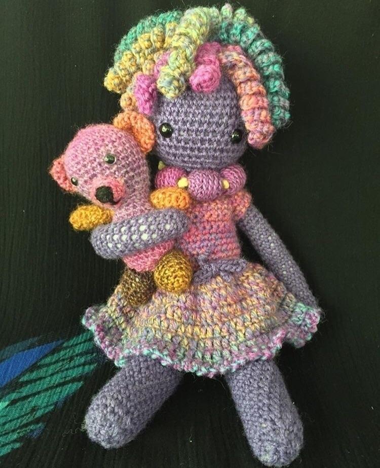 girl bear :heart:️ woollen toy - medusas_handmade | ello