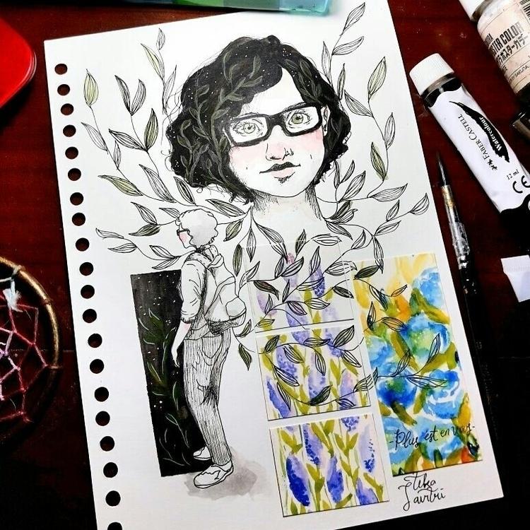 portrait Mix media watercolor p - tikasavitri | ello