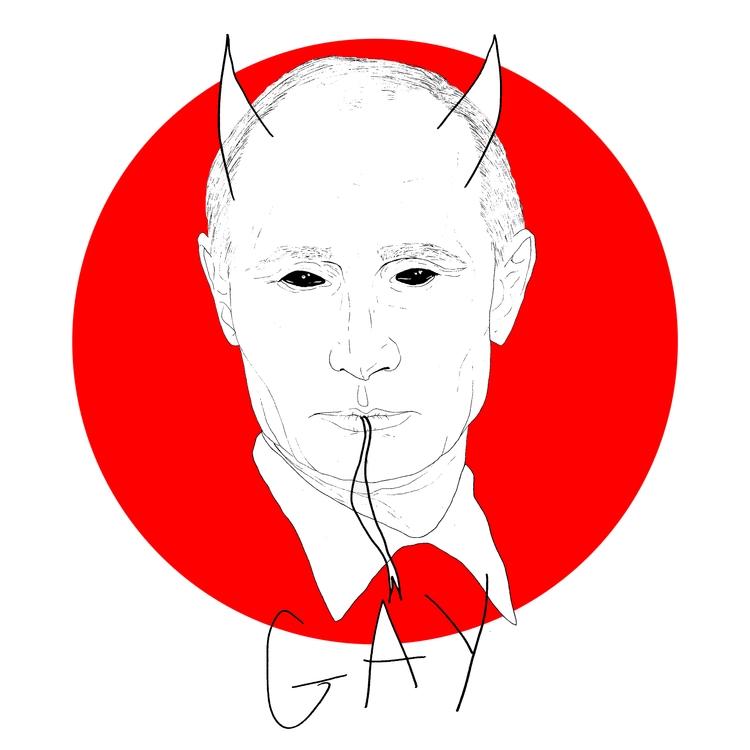 Putitin, Putin, Gay, Protest - azglynn | ello
