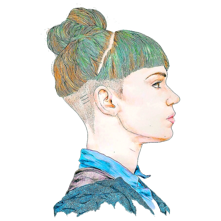Grimes, Art, Angel, Pencil, Colour - azglynn | ello