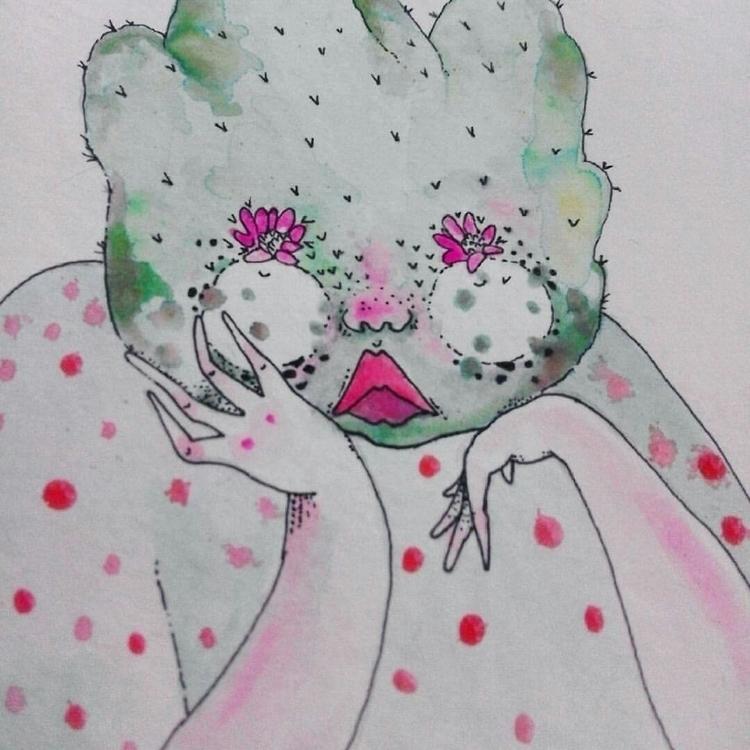 im return project cacti charact - popia_illustration   ello