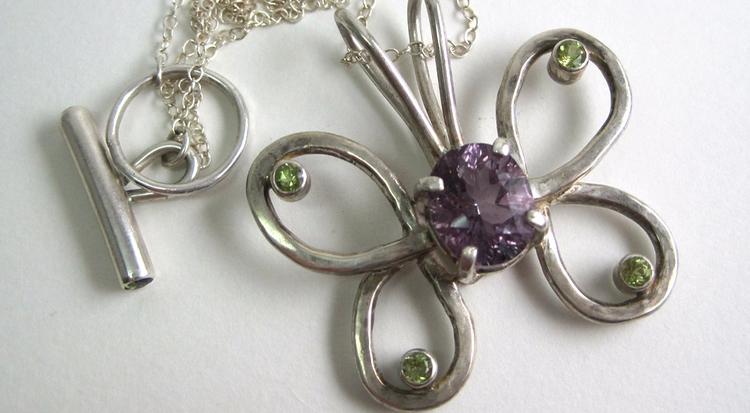 Sterling silver butterfly ameth - whitneybanksjewelry | ello