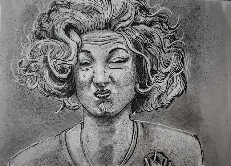 - Lil Dancer wore sour face, me - devin_francisco_illustration | ello