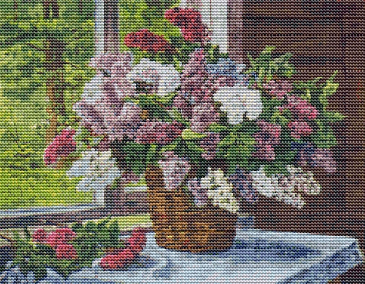 Lilacs Window Pyotr Konchalovsk - theartofstitch | ello