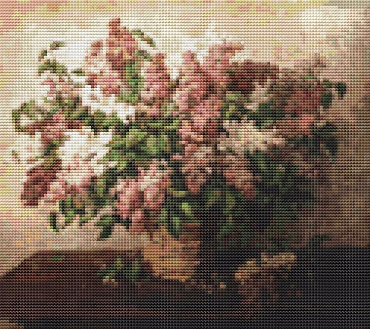 Lilacs Basket Pyotr Konchalovsk - theartofstitch | ello