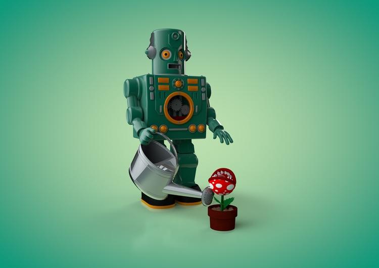 3D Robots - illustration, 3d, robots - johniseifert | ello